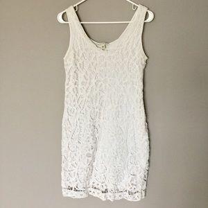 Banana Republic white cotton dress